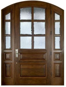 Entrance Timber Door Type with Solid Wood Frame pictures & photos