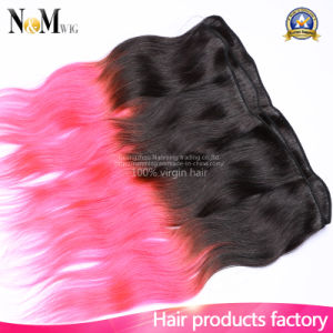 Indian Ocean Wave Hair Two Tone Ombre Body Wave Red or Pink Human Hair pictures & photos