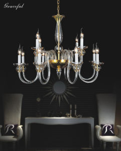 Transparent Modern Glass Chandelier (81070-8+4) pictures & photos