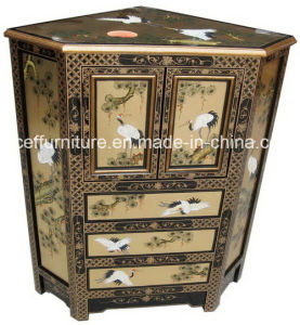 Wooden Furniture Asia Oriental Home Chinoiserie Lacquer Corner Cabinet