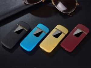Tungsten Turbo USB Lighter Touch-Senstive Switch Lighter Cigarettes for Smoking Ciga Electronic Lighter Free Laser Logo