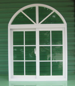 White or Colorful UPVC Sliding Window with Trim Strip