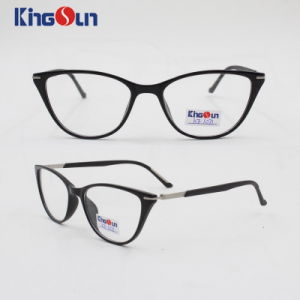 Tr90 Cat Eye Frame with Metal Rubber Temple Optical for Lady pictures & photos