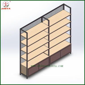 Grid Back Panel Wooden Wall Shelf (JT-A30) pictures & photos
