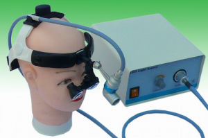 Surgical Dental Illuminating Fiber Optic Headlight with Loupe 2.5X pictures & photos