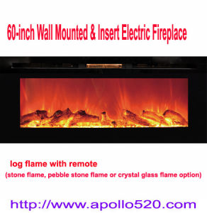 China 60 Inch Wall Mounted Insert Electric Fireplace With Remote