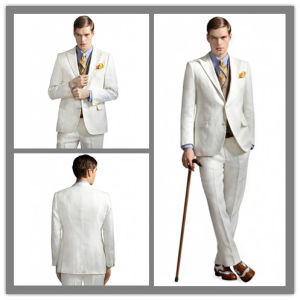 OEM Factory Price Customized Men′s Cashmere Wool White Suit Wedding Suit pictures & photos