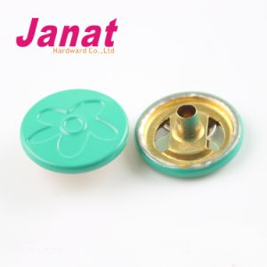 Green Color Snap Button Cap with Down 3 Parts