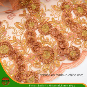 Embroidery Nylon Fabric for Garment (HAEF160009) pictures & photos