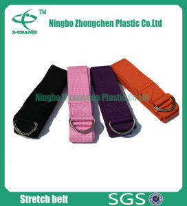 Buckle Holds Yoga Strap Eco Friendly Durable Cotton Yoga Belt