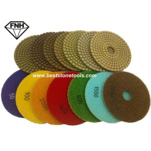 Wd-13 Granite Marble Polishing Pad Flexible Resin Pad
