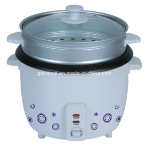 Kitchen Appliance Rice Cooker with Steamer & Glass Lid