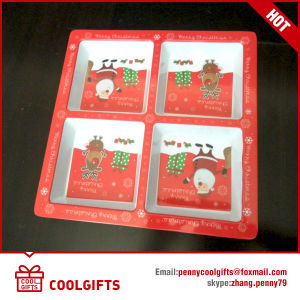 New Christmas Melamine Dish with Cartoon Print pictures & photos