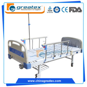 Simple Hospital Beds with Wheels with IV Pole