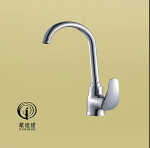 2016 Oudinuo Single Handle Brass Kitchen Faucet 68319-1 pictures & photos