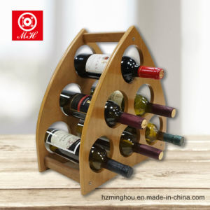 China Unique Triangular Wood Wine Rack For 6 Bottle With Mdf China