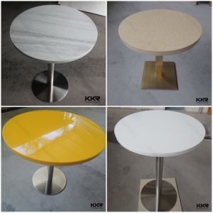 Kingkonree Modern White Round Small Restaurant Coffee Table with Chair pictures & photos