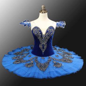 Blue Pro Classical Ballet dress Tutu sequins Performance Skirt Dancing Costumes