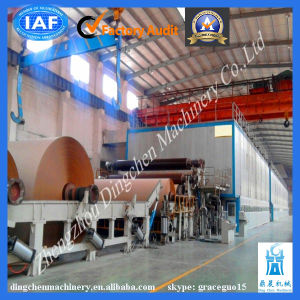 Carton Paper Recycling Good Quality 1880mm Kraft Fluting Paper Making Machine Made by Zhengzhou Dingchen pictures & photos