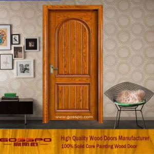 China Simple Bedroom Solid Wood Door Design (GSP2-053) - China ...