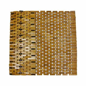 Natural Bamboo Block Bath Mat for Bathroom