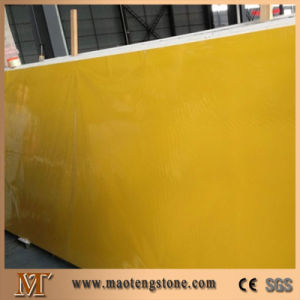 Pure Yellow Quartz Stone Artificial Slab