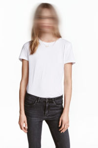 100%Cotton Womens White T-Shirt pictures & photos