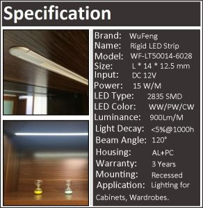 Recessed LED Cabinet Light Strip