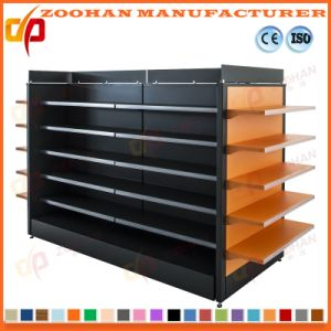 Wire Mesh Supermarket Display Shelf Wall Shelving with Basket (Zhs39) pictures & photos