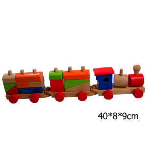 Wooden Train/ Wooden Toy/Bricks/Building Blocks (HSG-T-071)