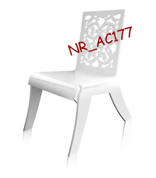 Acrylic Baroque Stackable Chair (NR_AC177)