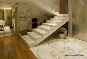 White Marble Tiles and Stairs