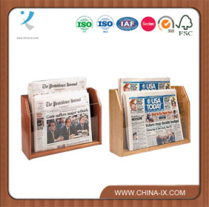Tabletops 2-Tiered 2 Pockets Newspaper Rack Fit Standard Papers pictures & photos