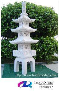 Granite Antique Stone Lantern, Garden Pagoda For Outdoor
