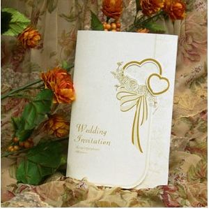Double Heart Invitation Card for Wedding