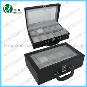 PU Leather Watch Boxes with 10 Slots for Display pictures & photos