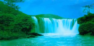 Famous Lighted Motion And Sound Waterfall Picture You With Regard To Moving Wall Art