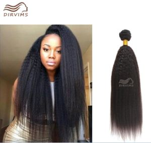 Factory Wholesales Price No Tangle No Shedding Kinky Straight Brazilian Remy Human Hair Weave