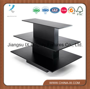 Customized 3 Tiered Wood Melamine Laminated Display Table