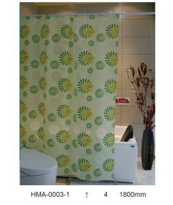 PVC Shower Curtain, Vinyl Shower Curtain (PEVA, EVA, PVC, polyester) pictures & photos