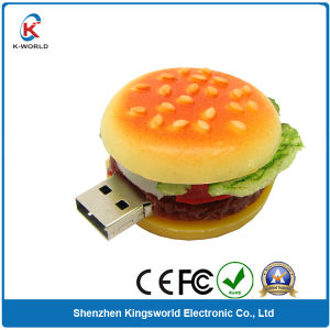 PVC Food Hamburger USB Flash Disk