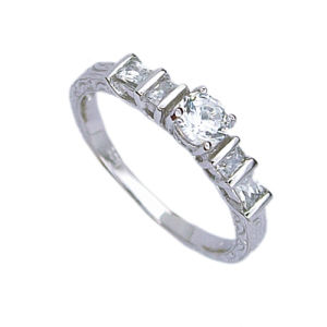 925 Silver Jewelry Ring (210950) Weight 2.3G