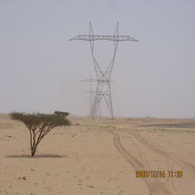 Power Transmission Line Steel Tower (Pylon)