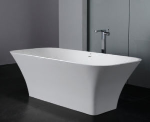 Eco Friendly Unsaturated Polyester Resin White Stone Bathtub for Sale