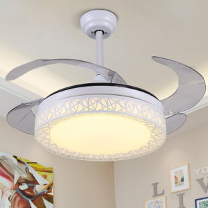 Household Electrical Appliances Invisible Blades Red Ceiling Fan Lamp