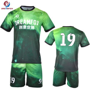 df526429b Hot Sportswear Team Cheap 100% Polyester Sublimated Soccer Uniforms Jersey