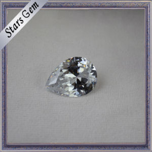 Sparkle Pear Brilliant Excellent Cut White Cubic Zirconia pictures & photos