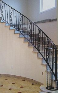 Staircase Safety Interior Wrought Iron Stair Railings