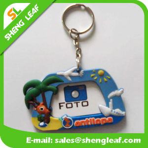 Promotional Gifts Photo Frame Soft PVC Rubber Keychain (SLF-KC090)
