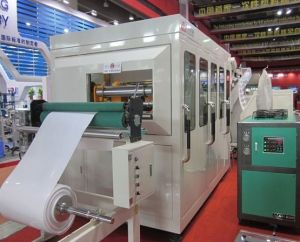 Automatic Plastic Cup Thermoforming Stacking Machine pictures & photos
